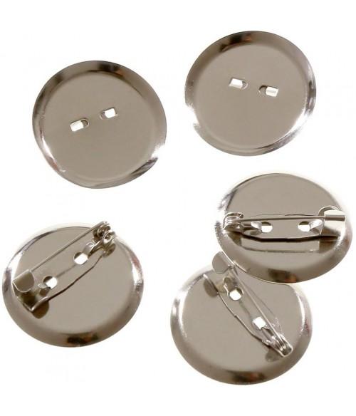 Broche épingle badge création bijoux 29mm ( 10 Pièces )