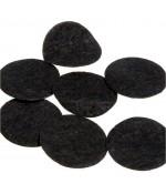 Rond feutrine accessoire bijoux loisirs créatifs 25 mm ( 10 pièces ) - Noir