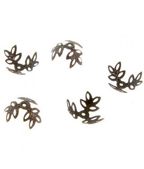 Calottes bijoux intercalaires coupelle Coquille (50 pièces)