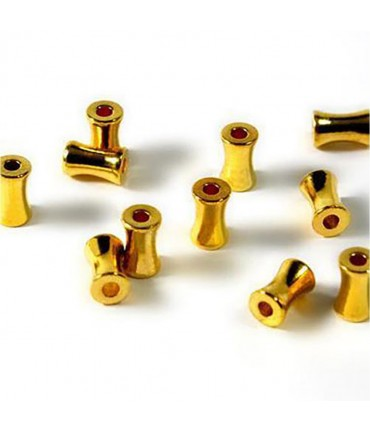 Perles tubes 6 mm (50 pièces)