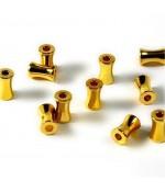 Perles tubes 6 mm (50 pièces) - Doré