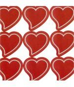 Etiquette autocollante pour cadeau (240 pièces) - Rouge