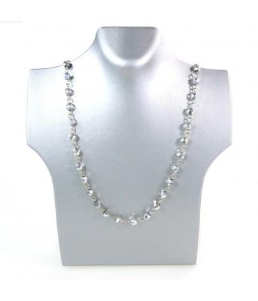 Presentoir pour collier buste 20 cm - Argenté