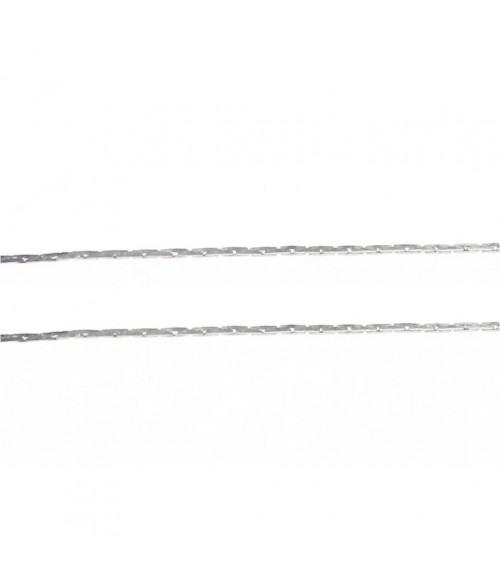 Chaine bijoux mailles jaseron 0,9 x 0,6 mm (1 mètre)