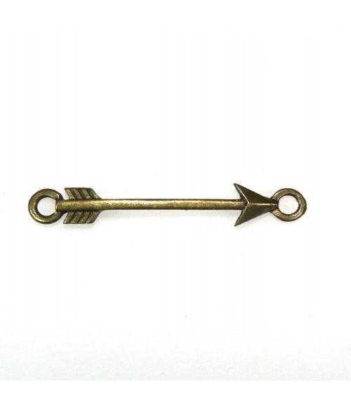 Connecteur bijoux Flèche Tendre 43 x 6 mm (1 pièce)
