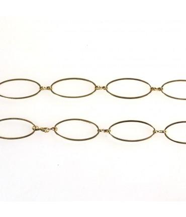 Chaine bijoux grandes mailles ovales 25 x 10,5 mm (1 mètre)