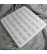 Présentoir ICE CUBE pour 36 bagues - Translucide