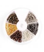Kit fermoirs mousquetons 14 mm 6 couleurs (60 pièces) - Assortiment