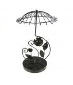 Présentoirs porte bijoux manège en forme de parapluie - Noir