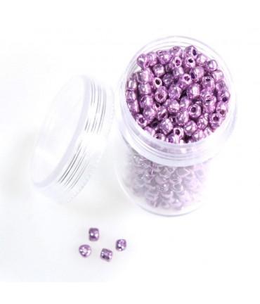 Kit perles de rocaille nacrée
