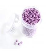 Kit perles de rocaille nacrée - Violet