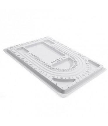Boitier compteur de perles 6 compartiments en plastique - Gris
