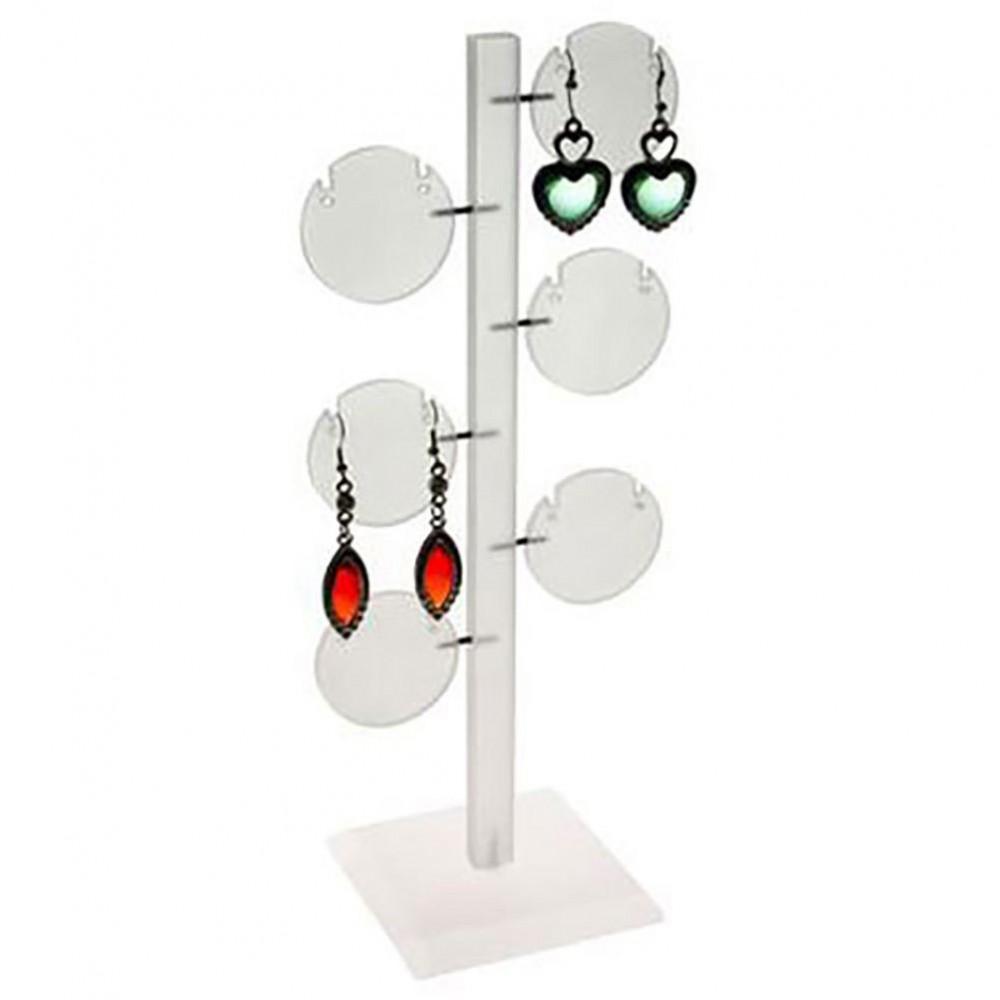 Arbre boucle d 39 oreille porte bijoux ronds 6 paires - Porte boucle d oreille mural ...