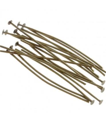 Tiges clous à têtes plates pour création de bijoux (200 pièces) - Bronze