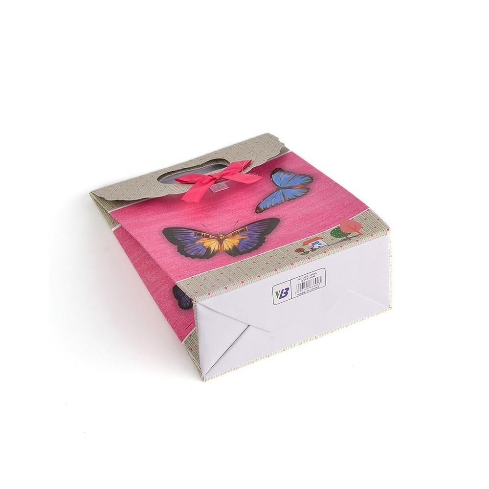 lot de 12 pochettes cadeau cm motif papillons. Black Bedroom Furniture Sets. Home Design Ideas