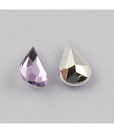 Strass bijoux acrylique Goutte 5 x 3 mm (50 pièces) - Parme