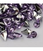 Strass bijoux acrylique Goutte 5 x 3 mm (50 pièces)
