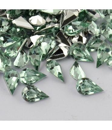 Strass bijoux acrylique Goutte 5 x 3 mm (50 pièces) - Vert d'eau