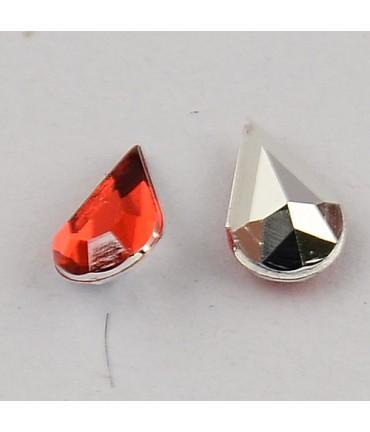 Strass bijoux acrylique Goutte 5 x 3 mm (50 pièces) - Rouge