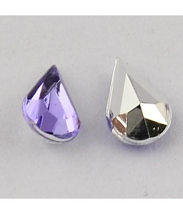 Strass bijoux acrylique Goutte 5 x 3 mm (50 pièces) - Violet