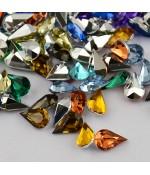 Strass bijoux acrylique Goutte 5 x 3 mm (50 pièces) - Multicolore