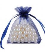 Sachets organza 10 x 12 cm pour bijoux ou dragées lot de 50 - Bleu royal