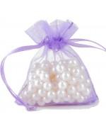 Sachets organza 8 x 11 cm pour bijoux ou dragées lot de 50 - Violet