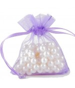 Sachets organza 13 x 17 cm pour bijoux ou dragées lot de 50 - Violet