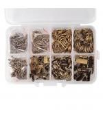 Kit de fermoirs, anneaux et accessoires de finition - Bronze