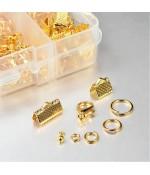 Kit de fermoirs, anneaux et accessoires de finition