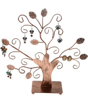 Arbre à boucle d'oreille et bijoux Fioriture (20 paires) - Cuivre patiné