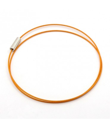 Colliers tours de cou fil cablé et fermoir à vis (5 pièces) - Orange
