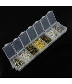 Kit fermoirs mousquetons 12 et 14mm en 4 couleurs (140 pièces) - Assortiment