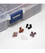Kit de perles de rocaille 4 mm multicolore