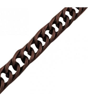 Chaine Au Mètre Maille Cheval 4 X 3 Mm ( 1 Mètre De Longueur ) - Cuivre