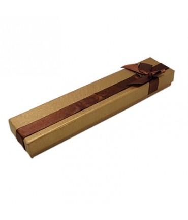 Ecrin pour bracelet avec nœud 4 x 20 cm (12 pièces) - Brun