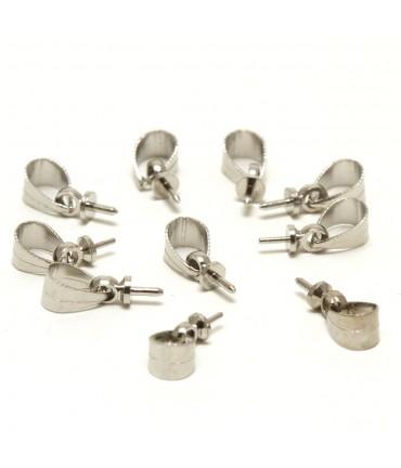 Attaches pendentifs bélière perles 12mm (10 pièces)