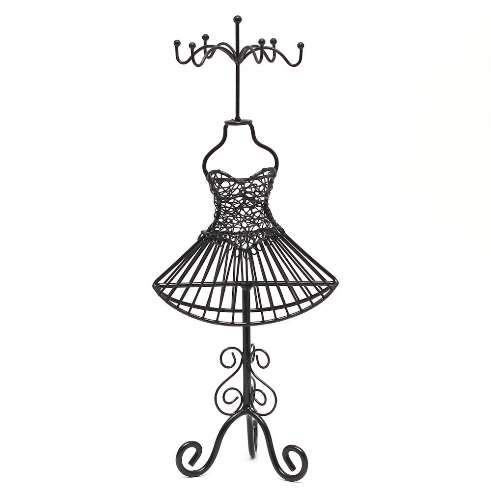 porte bijoux mixte poup e robe m tal. Black Bedroom Furniture Sets. Home Design Ideas