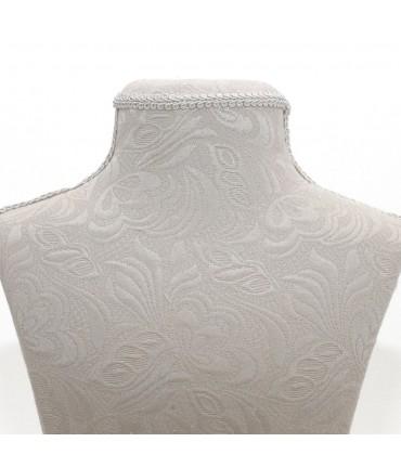 Buste bois et tissu arabesque beige