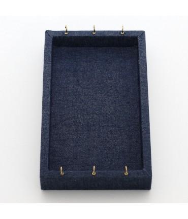 Tableau porte bijou tissu jean