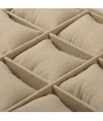 Plateau bracelets 12 compartiments en tissu beige