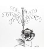 Porte bijoux Belle Rose pour collier et boucle d'oreille