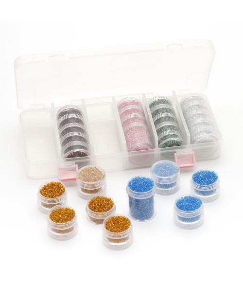 Kit de perles de rocaille 2mm