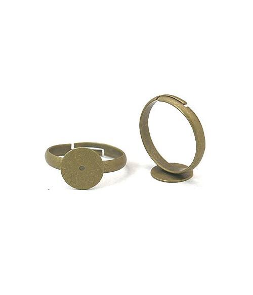 Support bague fimo réglable 18 mm tamis 10 mm (10 pièces)