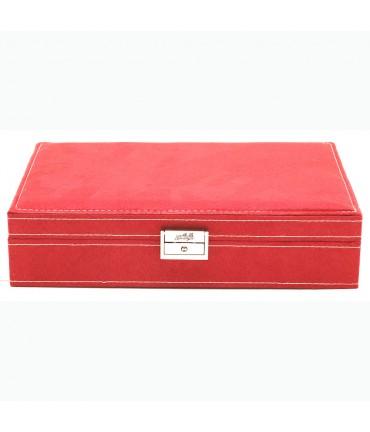 Coffret boîte à bijoux grand modèle rouge velours