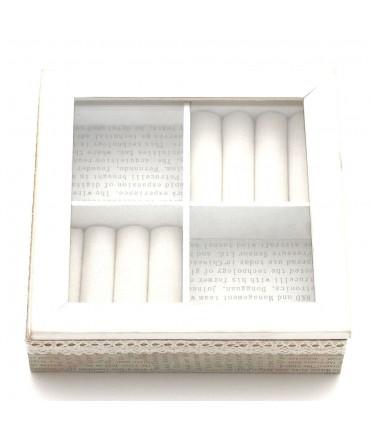 Boîte à bijoux bois et tissu