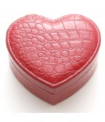 Coffret boîte à bijoux coeur rouge simili