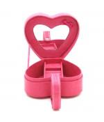 Coffret boîte à bijoux coeur rose velours