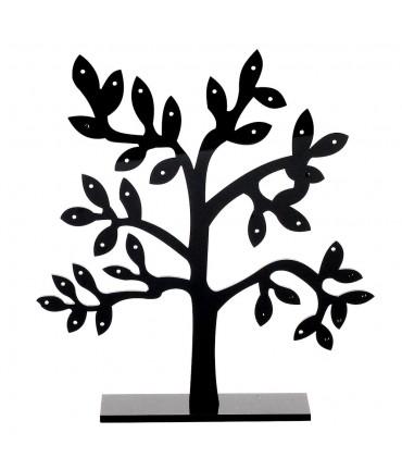 Petit présentoir boucles d'oreille plastique arbre (17 paires)