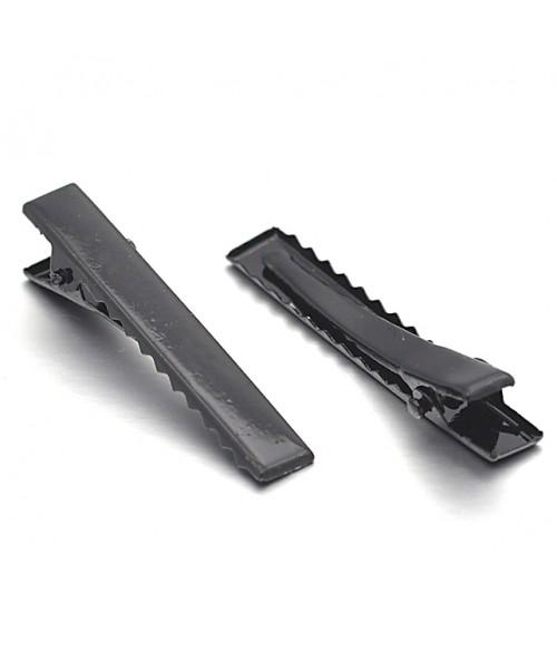 pince crocodile cheveux support fimo 10 pi ces 55 mm. Black Bedroom Furniture Sets. Home Design Ideas